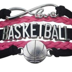 Girls Basketball Bracelet - Pink & Black